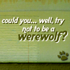 Could u Please Try & Not act like a Werewolf?