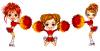 cheering girls